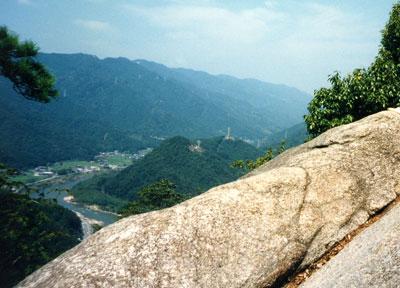 笠置城(山頂からの眺望)