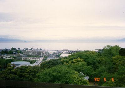 彦根城天守からの眺望