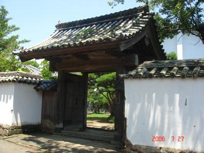 杵築藩 藩校(学習館)の門