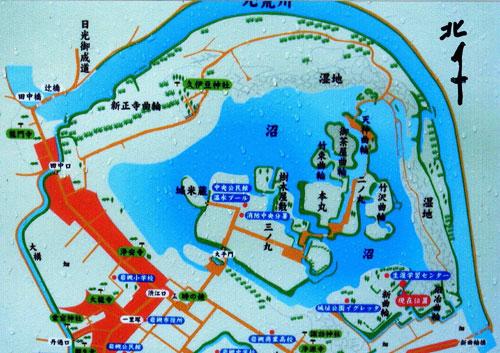 岩槻城の図