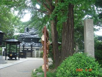 東京大仏と赤塚城二の丸跡石碑