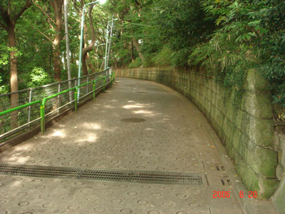 志村城址への坂道