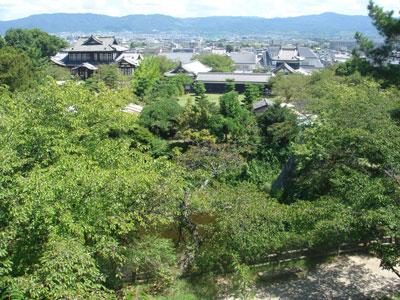 大和郡山城 天守台からの眺め