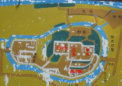 飯山城縄張図