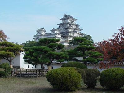 姫路城天守閣(西の丸から)