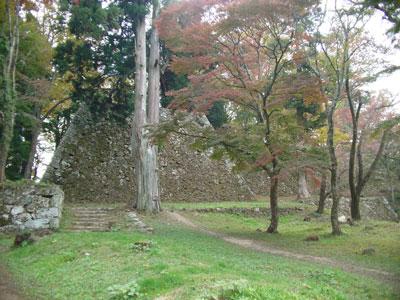 高取城 天守台と本丸石垣