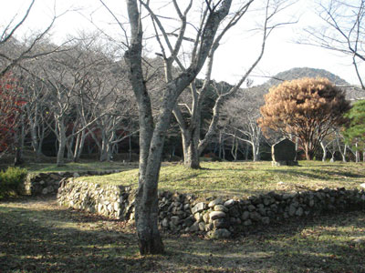 正法寺山荘 中央土壇