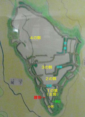 大庭城縄張図