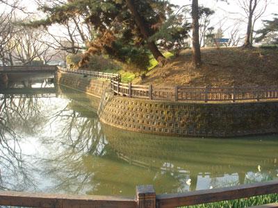 小泉城本丸北東隅櫓台跡