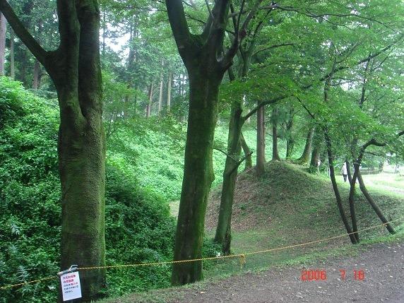 11出枡形から北西面にかけての折れのある土塁と空堀