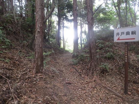 13井戸曲輪への堀底道