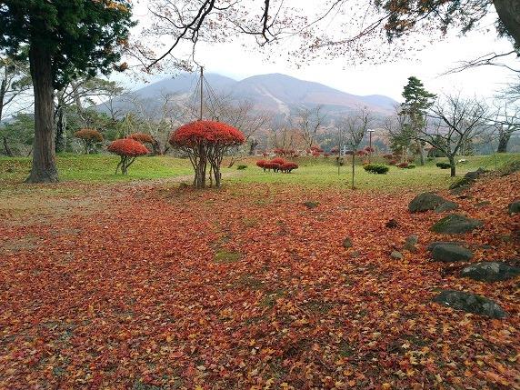 本丸と磐梯山