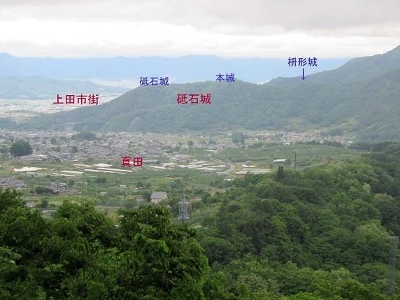 砥石城遠景