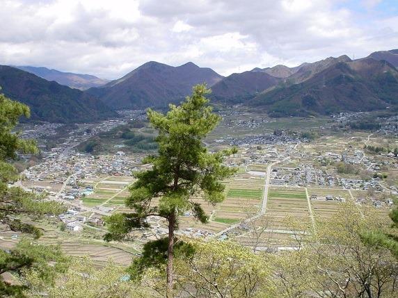 笹郭から真田町を見下ろす