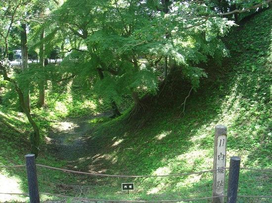 本丸北側の内堀