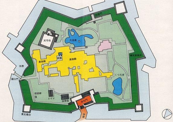 赤穂城本丸縄張図