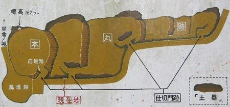 蒲生城本丸絵図