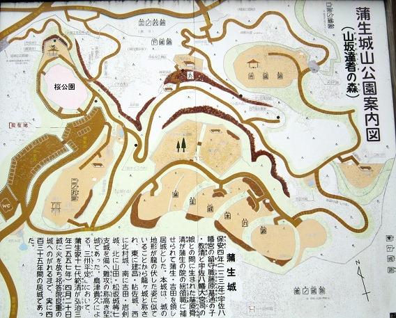 蒲生城縄張略図