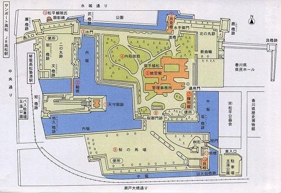 玉藻城縄張図