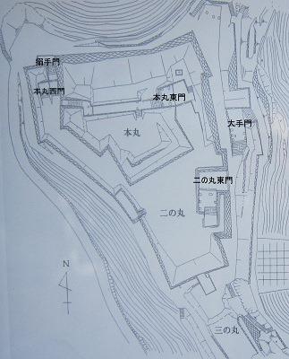 佐敷城縄張図