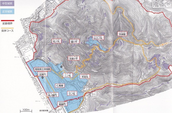 01鳥取城遺構概念図