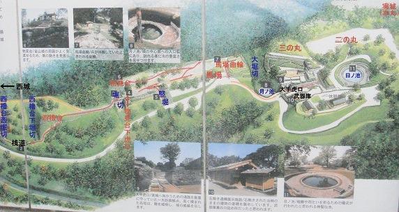 太田金山城鳥瞰図