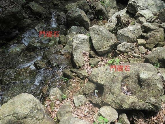 三ノ城戸城門礎石