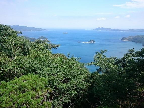 21金田城山頂からの眺望