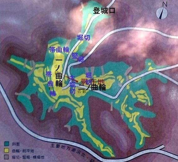 社山城縄張図