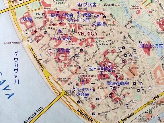 リガ旧市街絵図