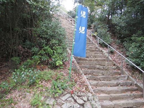 弁天社への石段