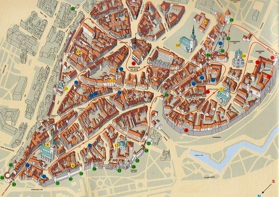 タリン市街図