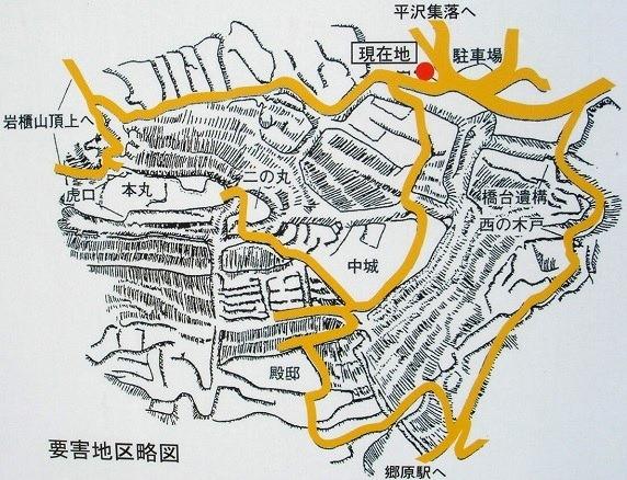 岩櫃城縄張略図