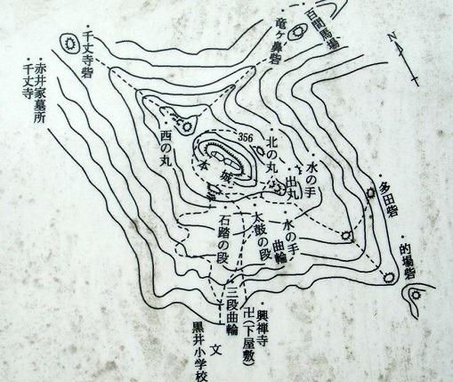 01黒井城縄張図