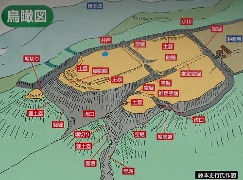 座光寺北城鳥瞰図