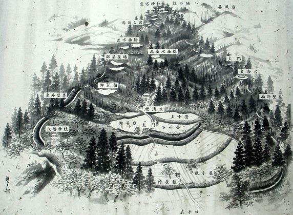 鴫山城絵図