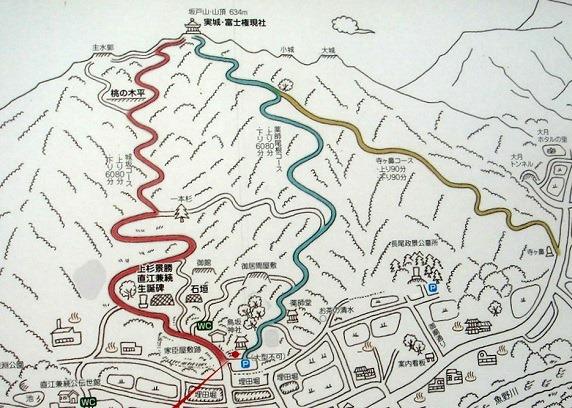 坂戸城ハイキング案内図