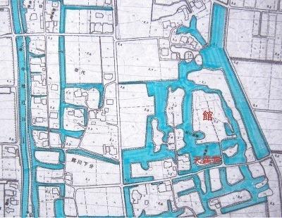 姉川城跡周辺図