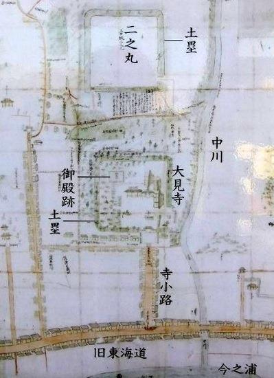 見付端城縄張図