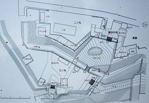 二の丸と三の丸復元計画図