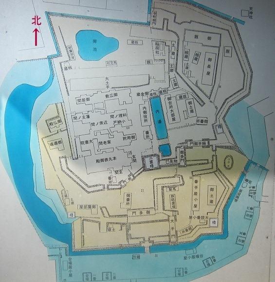 松前城縄張図