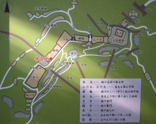 揖斐城平面図