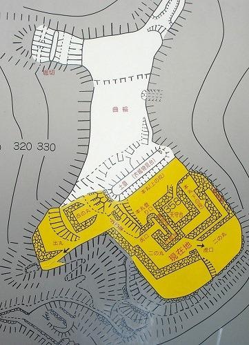 岩尾城縄張図