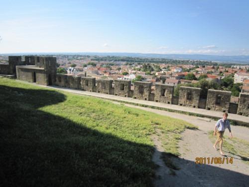 北側二重城壁からの眺望