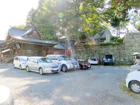 桜山神社と烏帽子岩