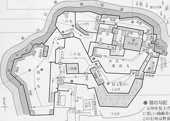 姫路城縄張図