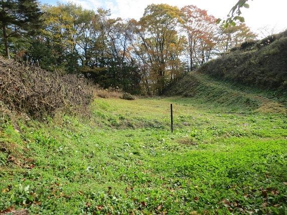 21本丸と北城間の空堀