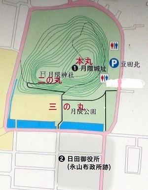 月隈城縄張略図