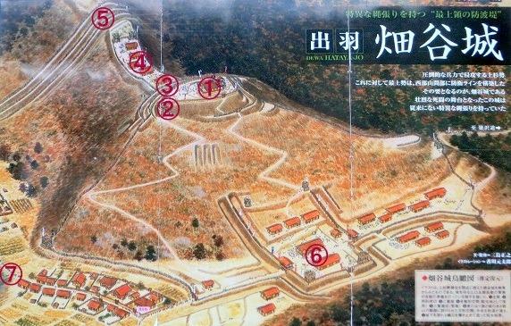 畑谷城鳥瞰図