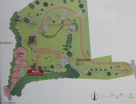 名島城址公園案内図
